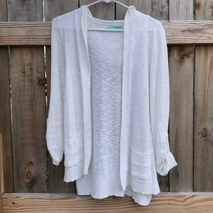 Hooded Open Front Sweater